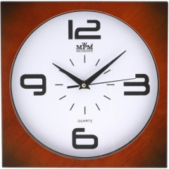Nástenné hodiny MPM, 2799.52 - hnedá tmavá, 26cm