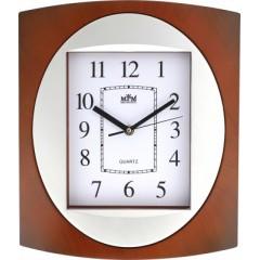 Nástenné hodiny MPM, 2800.52 - hnedá tmavá, 30cm