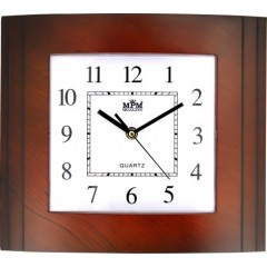 Nástenné hodiny MPM, 2801.52 - hnedá tmavá, 30cm