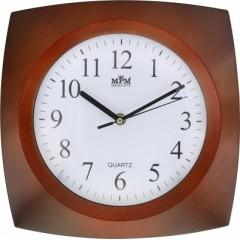 Nástenné hodiny MPM, 2802.52 - hnedá tmavá, 27cm