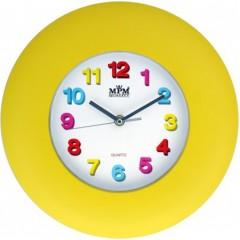 Nástenné hodiny MPM, 2809.10 - žltá, 30cm
