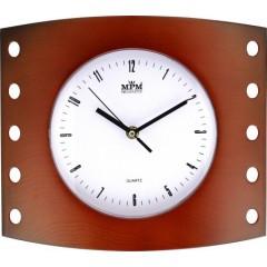 Nástenné hodiny MPM, 2814.52 - hnedá tmavá, 28cm