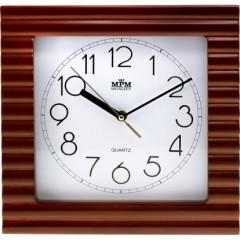 Nástenné hodiny MPM, 2700.50 - hnedá, 29cm