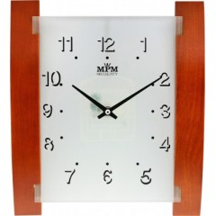 Nástenné hodiny MPM, 2704.50 - hnedá, 31cm