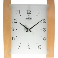 Nástenné hodiny MPM, 2704.53 - svetlé drevo, 31cm