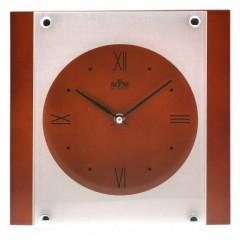 Nástenné hodiny MPM, 2706.54 - tmavé drevo, 26cm