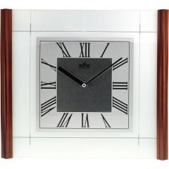 Nástenné hodiny MPM, 2715.54 - tmavé drevo, 33cm