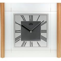 Nástenné hodiny MPM, 2715.53 - svetlé drevo, 33cm