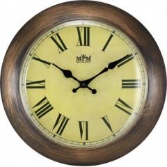 Nástenné hodiny MPM, 2521.52 - hnedá tmavá, 30cm