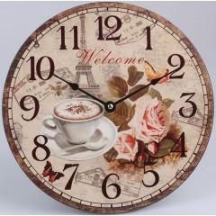 Nástenné hodiny HLC, Welcome, 30cm
