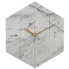 Nástenné hodiny KA5591WH, Karlsson, Marble Hexagon, 29cm