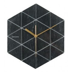 Nástenné hodiny KA5591BK, Karlsson, Marble Hexagon, 29cm