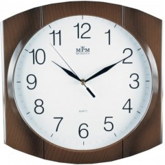 Nástenné hodiny MPM, 2437.52 - hnedá 31cm