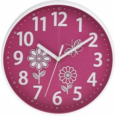 Nástenné hodiny MPM, 3230.23 - ružová 25cm