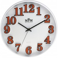 Nástenné hodiny MPM, 3226.60 - oranžová, 30cm