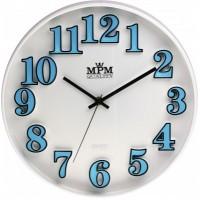 Nástenné hodiny MPM, 3226.30 - modrá, 30cm
