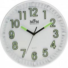 Nástenné hodiny MPM, 3231.00 - biela , 30cm