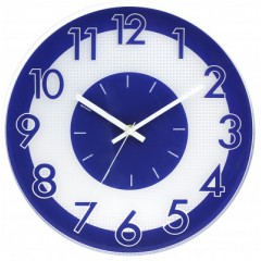 Nástenné hodiny MPM, 3234.30 - modrá, 30cm