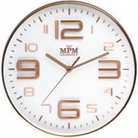 Nástenné hodiny MPM, 3221.81 - šampaň, 30cm