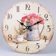 Nástenné hodiny HLC, Cafe des Fleurs, 34cm