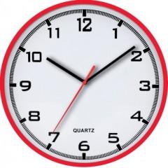 Nástenné hodiny MPM, 2479.20 - červená, 30cm