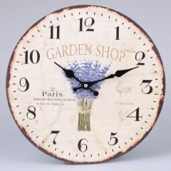 Nástenné hodiny HLC, Garden shop, 34cm