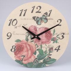 Nástenné hodiny na plátne Ruže 2, 39cm