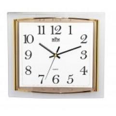 Nástenné hodiny MPM, 2442.80.SW - zlatá, 36cm