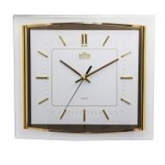 Nástenné hodiny MPM, 2442.80.SW-index - zlatá, 36cm