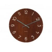 Nástenné hodiny KA5619DW, Karlsson Wood medium Dark, 40cm