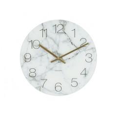 Nástenné hodiny KA5618WH, Karlsson Marble medium white, 40cm
