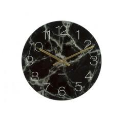 Nástenné hodiny KA5618BK, Karlsson Marble medium black, 40cm