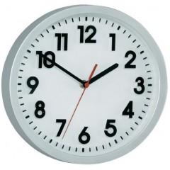 Nástenné quarz hodiny, strieborná 25 cm