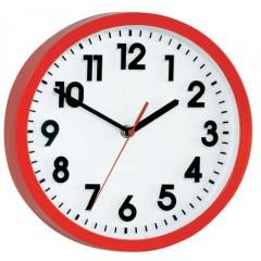 Nástenné quarz hodiny, červená 25 cm