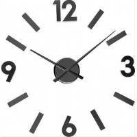 Nalepovacie nástenné hodiny Balvi 21839 Numbers Black 60cm