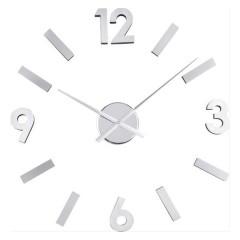 Nalepovacie nástenné hodiny Balvi 21212 Numbers Steel 60cm