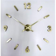 Nalepovacie nástenné hodiny JVD HW 53,7 zlaté