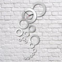Nalepovacie nástenné hodiny, Vision, 37x70cm
