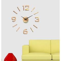 Nalepovacie nástenné hodiny, HM02C, Bronz, 60cm
