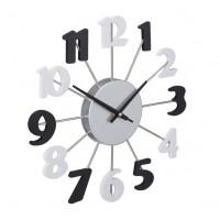 Nástenné hodiny RD0786 čiernobiele, 35 cm