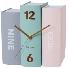 Stolové hodiny Karlsson Kniha 5515 pastell 20 cm