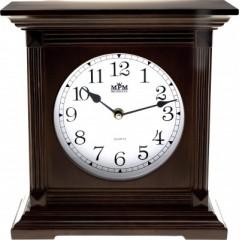 Stolové hodiny MPM, 2705.54 - tmavé drevo, 26cm