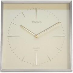 Hodiny Twins 2904 biele 30cm
