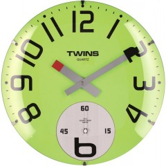 Twins hodiny 363 zelené 35cm