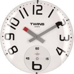 Twins hodiny 363 biele 35cm