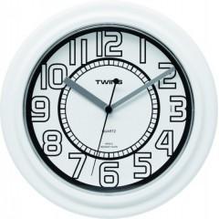 Twins hodiny 406 biele 23cm