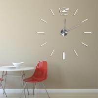 3D Nalepovacie hodiny DIY Clock BIG Time Espa, Biele 80-130cm