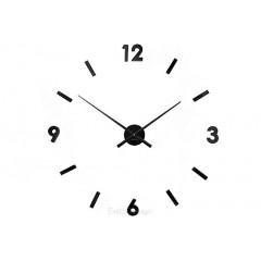 Nástenné hodiny ExitDesign Extender 668B, čierne 70-100cm