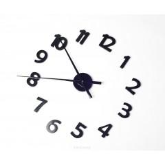 Nástenné hodiny ExitDesign Extender Numbers, čierne 140BB, 70-120cm