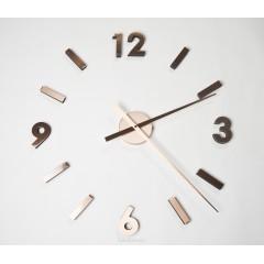 Nástenné hodiny ExitDesign Extender 668CO, medené 70-100cm